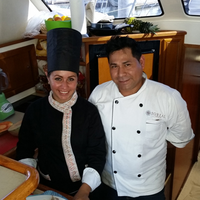 chef on Luxury Yacht photography Charters